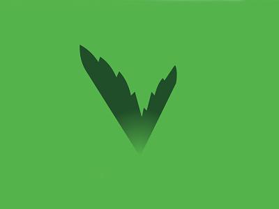 Leafy V Venture Capital venture capital vc investment agriculture ag green v leaf rejected badge logo unused