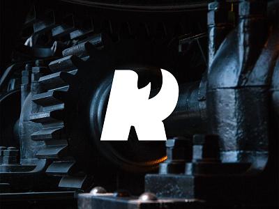 "Rhino ""R"" r rhino killed rejected badge unused branding logomark wip icon logo"
