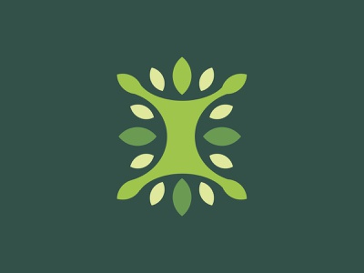Natural Fit natural holistic fitness leaf design illustration killed rejected badge identity unused icon logo