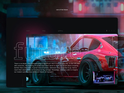 Future car — Web Design