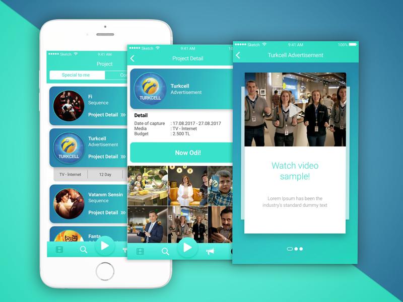 Odi Mobile App Project Screen