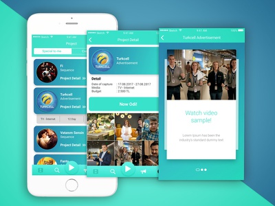 Odi Mobile App Project Screen detail search film video ui mobil project ios app application