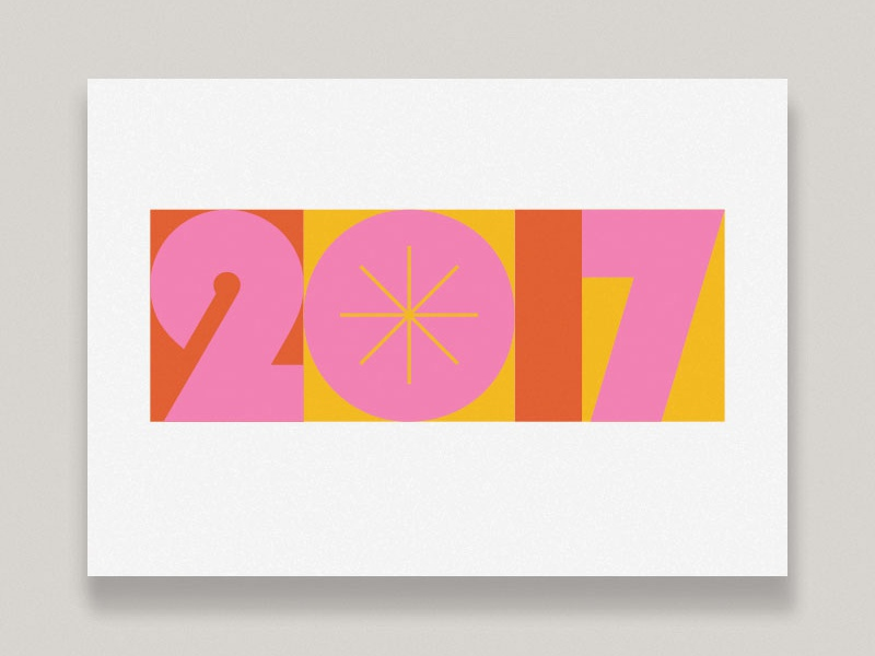 New Year Greeting Cards illustration greeting card the department thedepartmentsf numbers print type typography card new year 2017