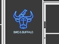 Bird & Buffalo Restaurant Signage