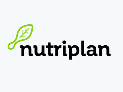 Nutriplan sign green iconography identity brand design icon logo nutritional food diet leaf spoon nutrition
