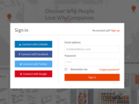 Sign in form for WhyCompanies