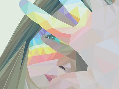 Rainbow Self Portrait triangles illustrator self-portrait portrait rainbow