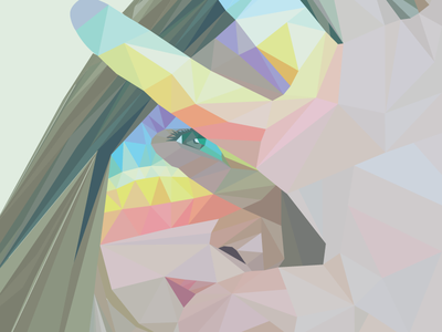 Rainbow Self Portrait triangles illustrator self-portrait portrait rainbow