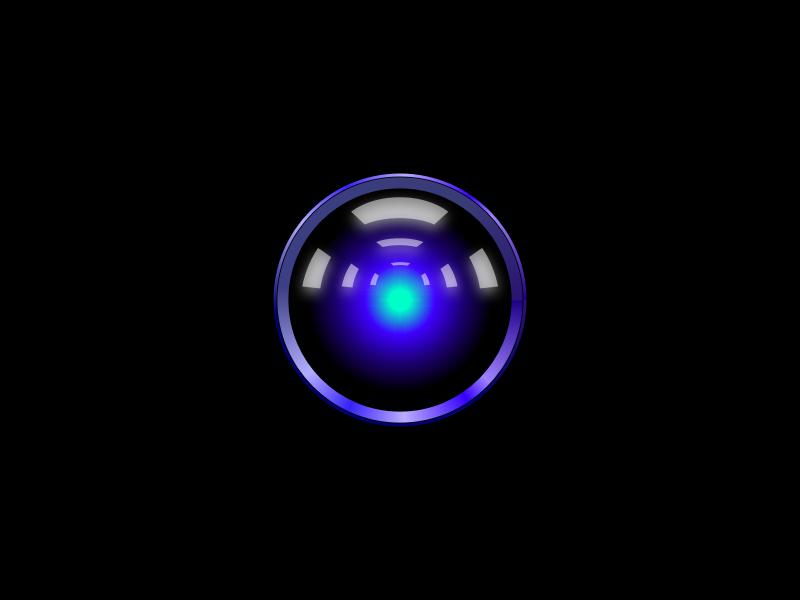 Vector HAL9000 ⊙⊕ Free Sketch File ⊕⊙ ai blue beamer lens stanley kubrick movie a space odyssey hal9000