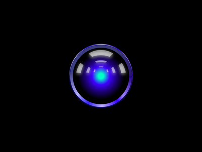 Vector HAL9000 ⊙⊕ Free Sketch File ⊕⊙ ai blue beamer lens stanley kubrick movie a space odyssey hal9000