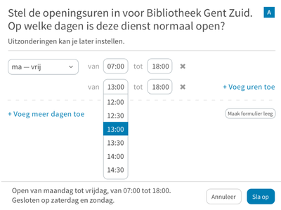 Creating opening hours calendar scheduling flow ux city shop hours opening