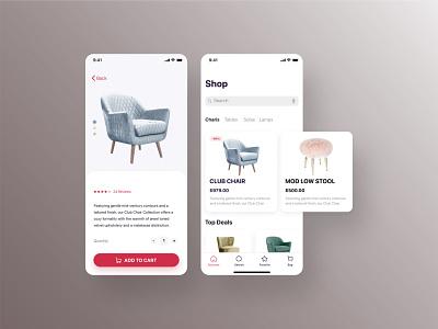 Furniture Store App ios app e-commerce ux ui