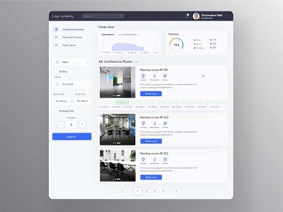 Online booking app crm dashboard web ux ui