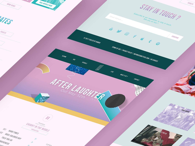 Paramore - After Laughter ui ux launch album music paramore design web design web