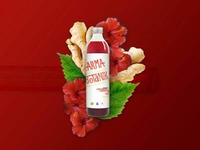 Karma Botanik - Rebranding flowers fruits energy drink healthy rebranding branding hibiscus red ginger packaging