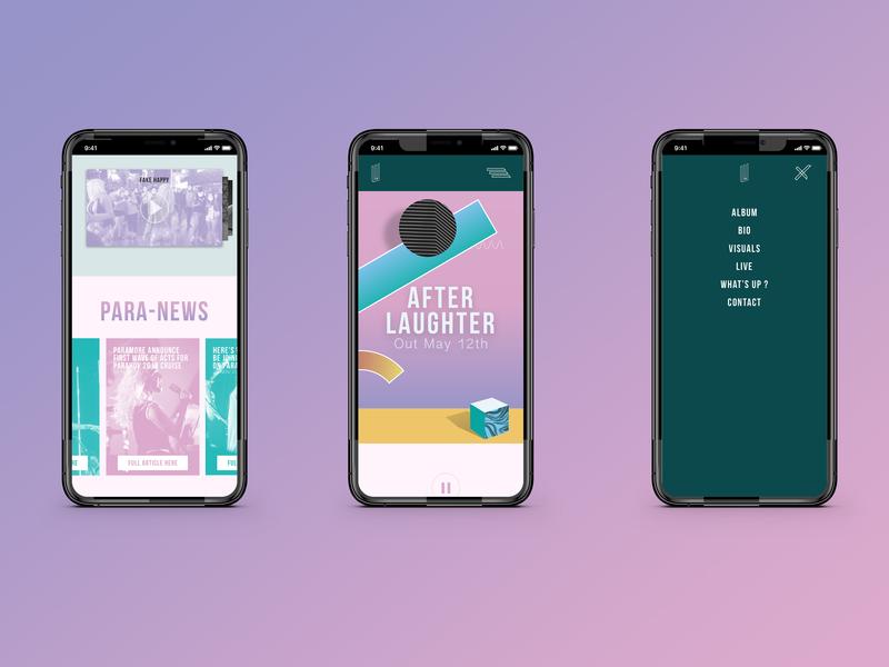 Paramore : After Laughter - Mobile Version mobile website webdesign web paramore music design