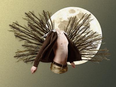 Moonlight Riots - Shot #01 moonlight moon surrealist surrealism collage design graphic design editing photography france ecv diploma degree book writing community gay lgbt