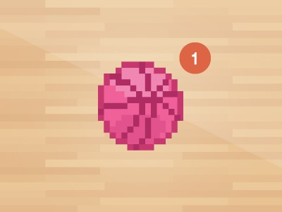 Drafted first cute drafted dribbble basketball pixel vector