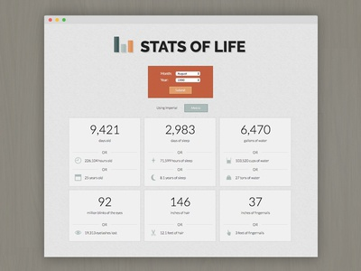 Stats of Life web design website web ux ui stats logo life icon design cute