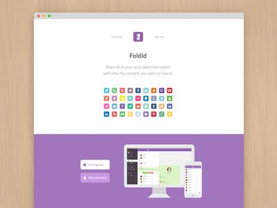 Foldid Landing Page