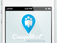 Gruupmeet Login Screen - Work In Progress