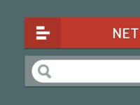 Netflix Flat UI Elements 2