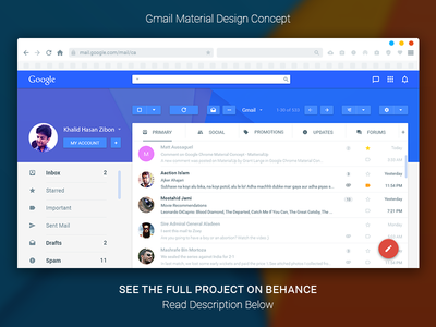 Gmail Material Design Concept