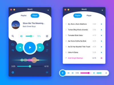 MusiQ - A Music Player Concept