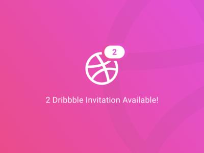 2 Dribbble Invitations Available