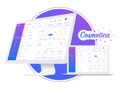 Cosmetica - Dashboard for an Online Cosmetics Shop