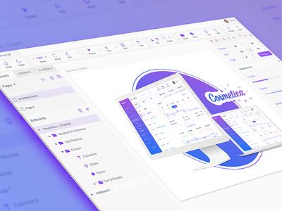 Designing Gravit Designer with Gravit Designer! purple ux ui sketch gravit designer gravit
