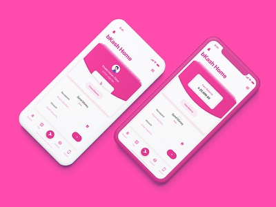 bKash - Check Balance   Mobile Finance App ios iphone x pink balance check balance send money money finance bkash