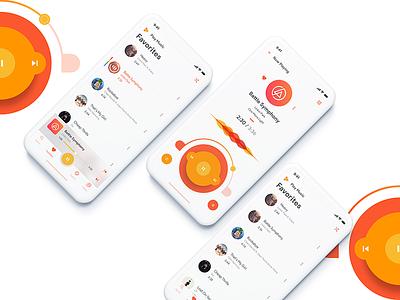 Google Play Music Redesign redesign mp3 player audio orange music play google