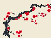 Ukyo-e flower