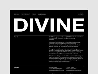 Divine Musique — UX & Interactive Art Direction