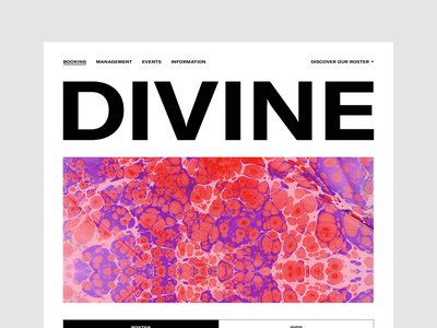 Divine Musique — UX & Interactive Art Direction agency management music art direction ux responsive web site ui interface design