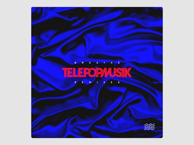 Art Direction & Graphic Design for Telepopmusik Breathe Remixes blue red music vinyl cover artwork design graphic direction art