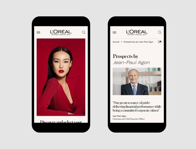 L'oréal Group • UX & Art Direction for the 2018 Annual Report