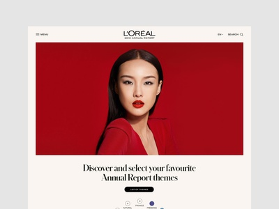 L'oréal Group • UX & Art Direction for the 2018 Annual Report corporate mobile ux art direction web site responsive ui interface design