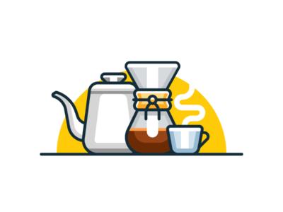 Coffee madeinaffinity illustration icon minimal coffee