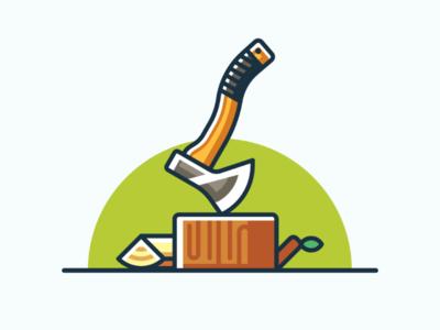 Axe icon design minimal illustration axe