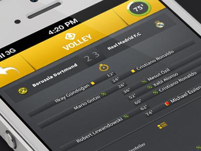 Volley Livescore app iphone app ios mobile livescore football