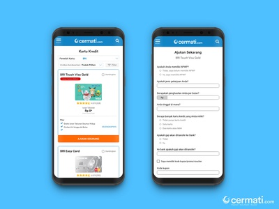 Cermati.com Credit Card Catalog Concept Design for Mobile Web