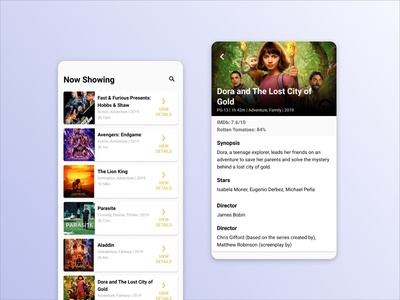 UI Exploration Case Study: Movie