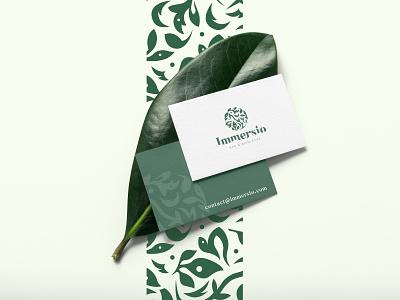 Immersio - Business Card identity spa businesscard mockup logo branding design logotype