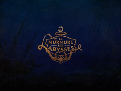 Le Murmure des Abysses anchor sea typography illustration games game vector logotype logo design