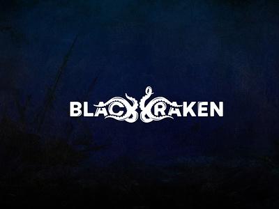Black Kraken octopus illustration logotype games game kraken sea vector typography design logo