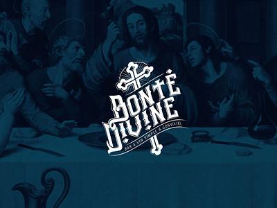 Bonté divine cross vector typography logotype design logo
