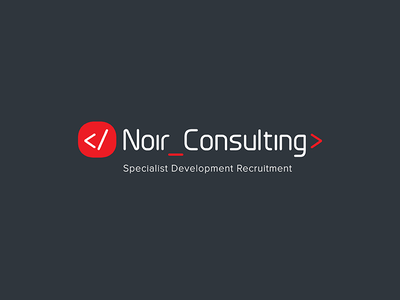 Noir Consulting Logo code development recruitment mark logo emblem branding
