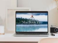 Free Workstation MacBook Pro Mockup Design